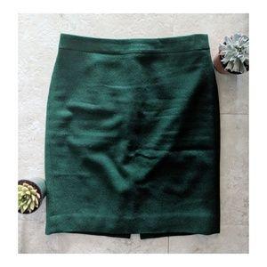 J Crew pencil skirt in green